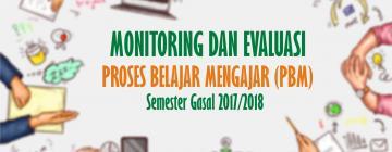 Tingkat Kinerja Dosen Meningkat pada Monev PBM Gasal 2017/2018