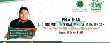 Pelatihan Auditor Mutu Internal 2019