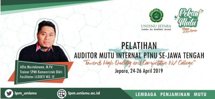 Pelatihan Auditor Mutu Internal 2019